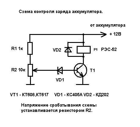 Контроль заряда аккумулятора